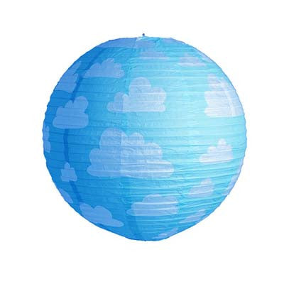 Printed Round Paper Lantern - 12 inches (click for more colors)