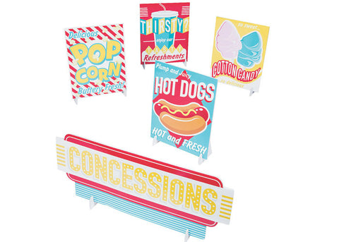 Concessions Signs Table Decors