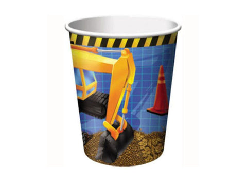 Construction Zone Paper Cups (8 ct)