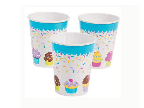 Cupcake Party Paper Cups (8 ct)