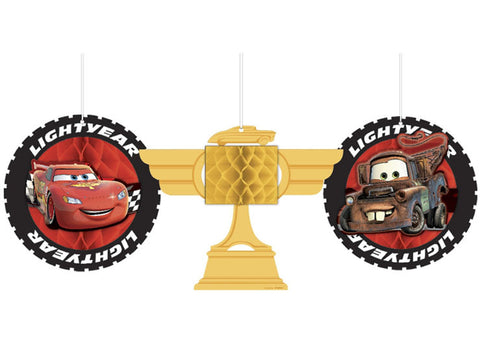 Disney Cars Hanging Honeycomb Decorations