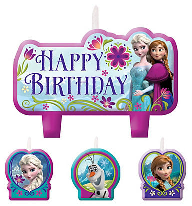 Frozen Birthday Candle