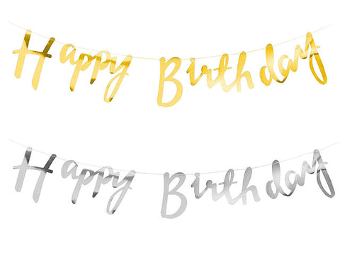 Script Happy Birthday Garland (click for more colors)