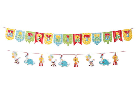 Circus Birthday Party Garland