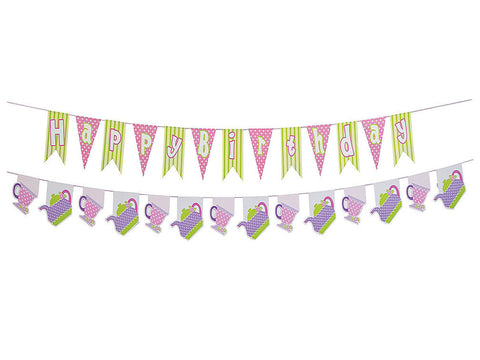 Tea Party Birthday Garland
