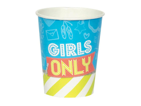 Girls Only Paper Cups (8 ct)