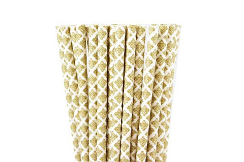 Paper Straws - Printed - 25 ct - (click for more colors)
