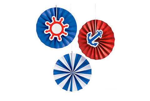 Nautical with Icons Hanging Fans