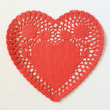Heart Paper Doilies - 6 inches (click for more colors)