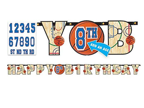 Basketball Add-an-Age Jointed Banner