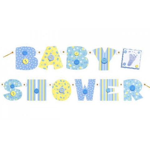 Boy Baby Shower Jointed Banner