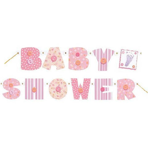 Girl Baby Shower Jointed Banner