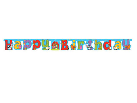 Barnyard Birthday Jointed Banner