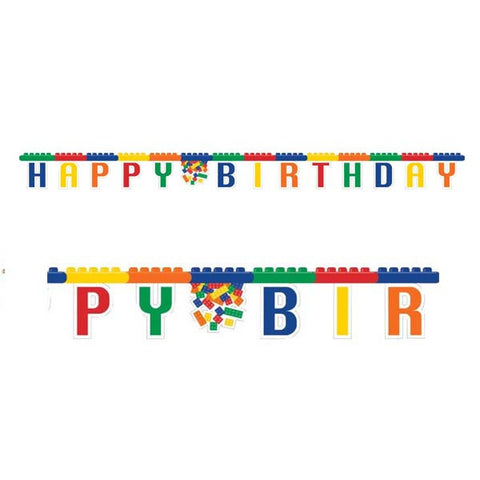Blocks Party Birthday Jointed Banner