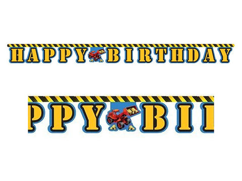Construction Zone Birthday Jointed Banner
