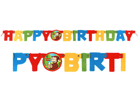 Curious George Birthday Jointed Banner