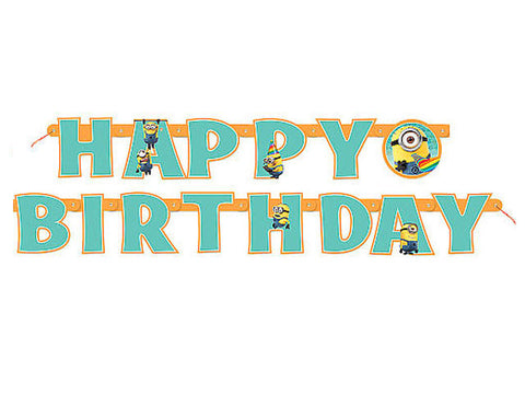 Despicable Me Minions Jointed Birthday Banner