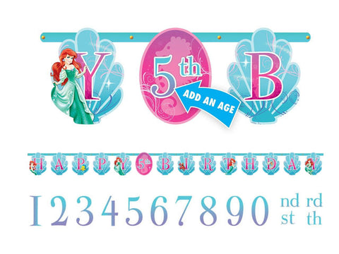 Ariel The Little Mermaid Add-an-Age Jointed Banner