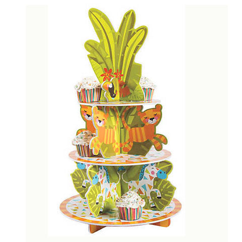 Jungle Animals Cupcake Stand
