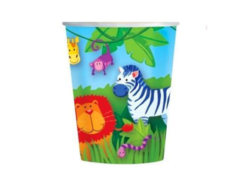 Animal Safari Paper Cups (8 ct)