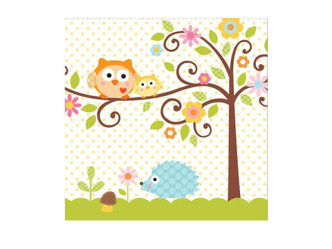 Owl Baby Shower Lunch Napkins