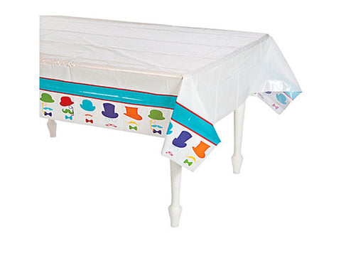 Colorful Mustache Table Cover