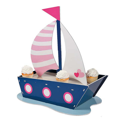 Nautical Girl Sail Boat Cupcake Stand