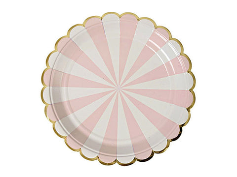 Toot Sweet Pink 9-inch paper plates (8 ct)