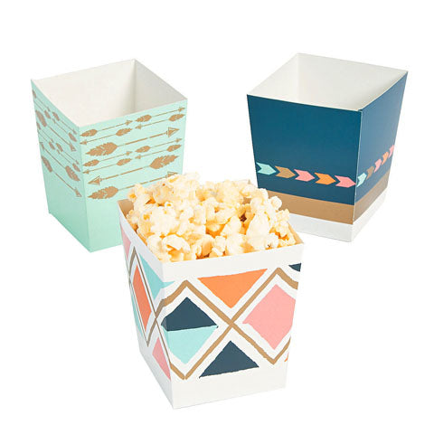 Boho Chic Mini Popcorn Boxes