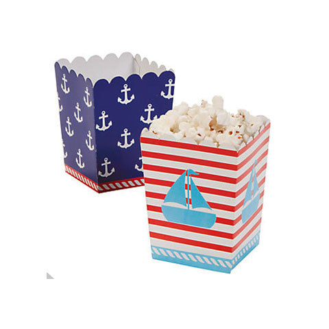 Nautical Party Mini Popcorn Boxes