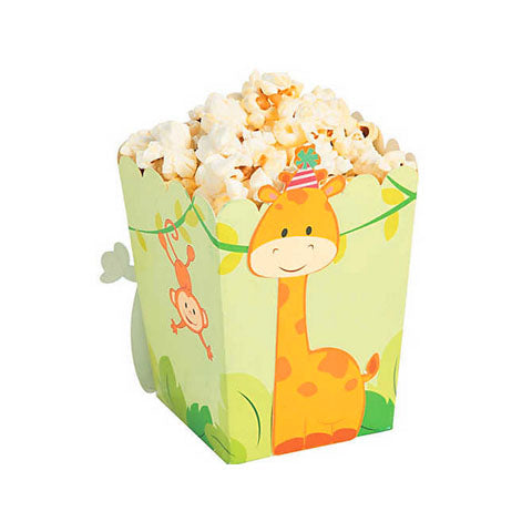 Zoo Birthday Mini Popcorn Boxes