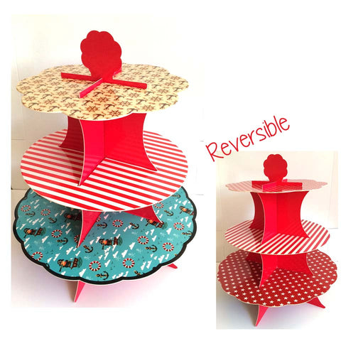 Retro Pirates Cupcake Stand
