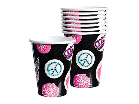 Rockstar Princess Paper Cups (8 ct)