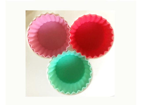 Silicone Cups Tropical  - medium round