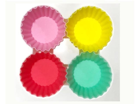 Silicone Cups Tropical - small round