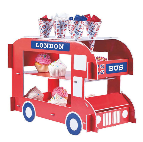 Royal British London Bus Cupcake and Treat Stand