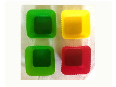 Silicone Cups Brights - large square