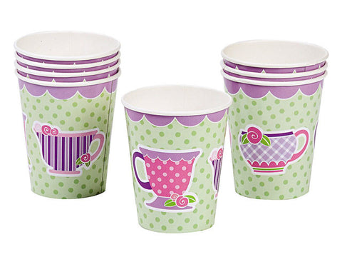 Tea Party Paper Cups (8 ct)