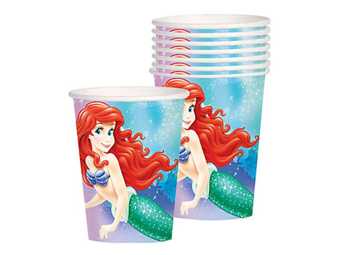 Ariel The Little Mermaid Paper Cups (8 ct)