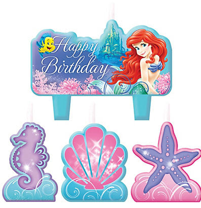 Ariel The Little Mermaid Birthday Candle