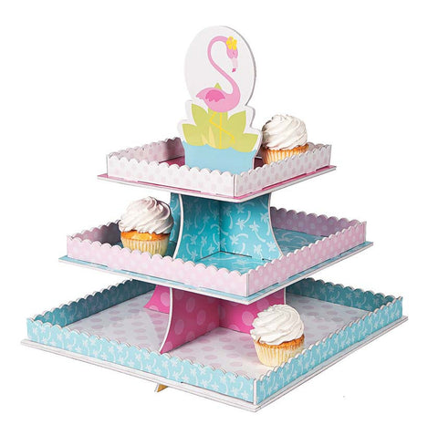 Tropical Flamingo Party Treat Stand