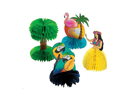 Luau Tropical Mini Table Centerpieces