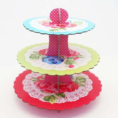 Vintage Roses Party Cupcake Stand