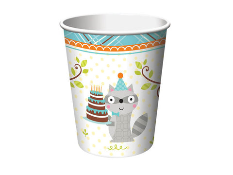 Woodland Birthday Paper Cups (8 ct)