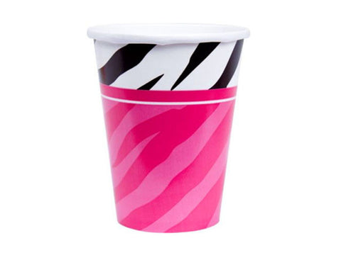 Zebra Glam Party Paper Cups (8 ct)