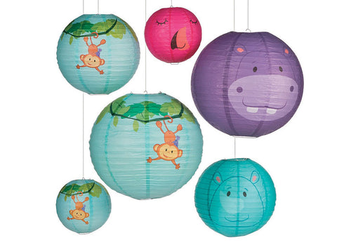 Zoo Birthday Paper Lanterns