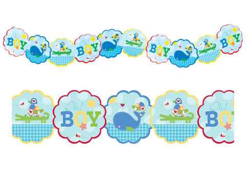 Ahoy Baby Boy Shower Garland