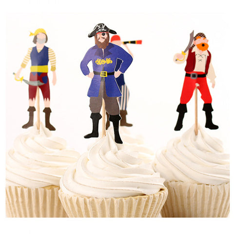 Ahoy There Pirate cupcake picks (12 ct)