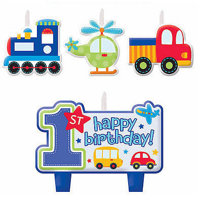All Aboard 1st Birthday Candle