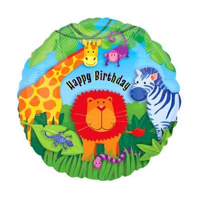 Animal Safari Party Foil Balloon